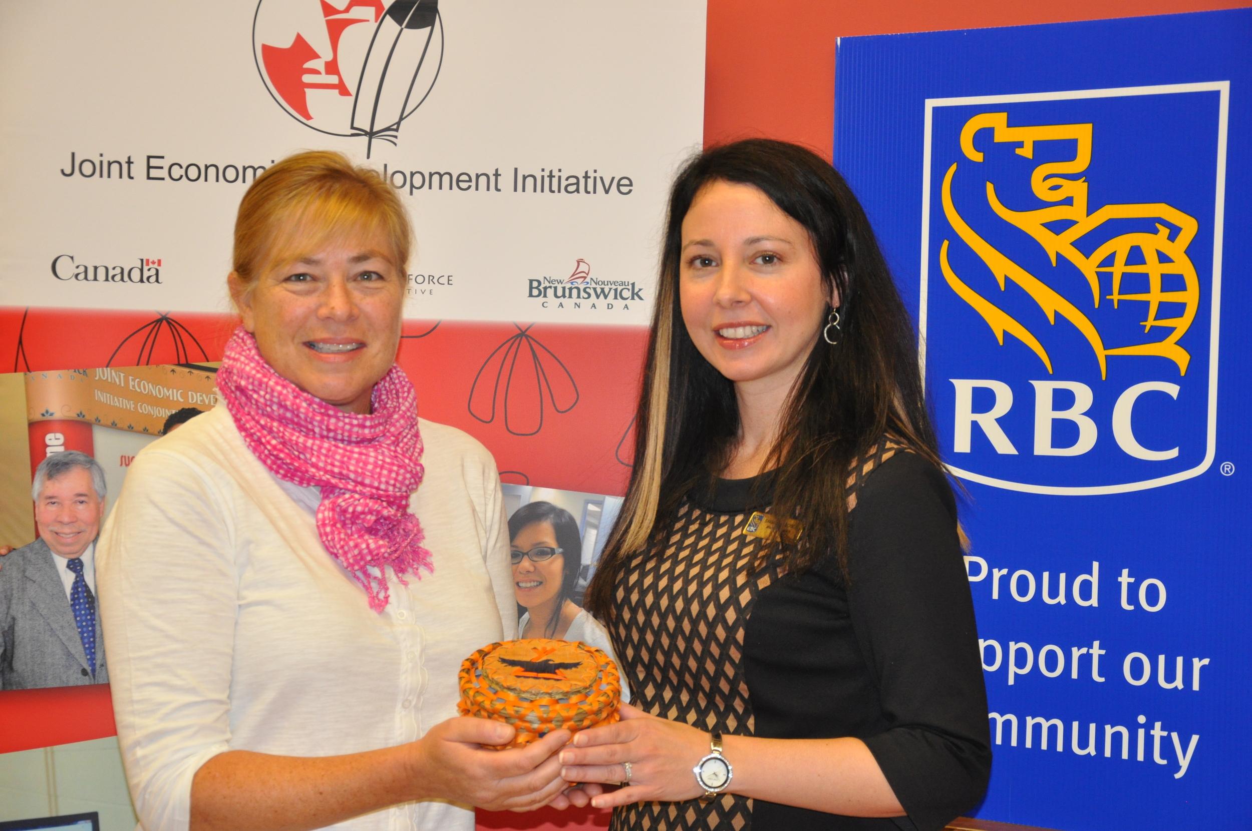 Lynn Poole-Hughes (CEO of JEDI) and Samantha Bosca (RBC)