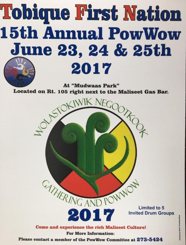 Tobique Pow Wow poster