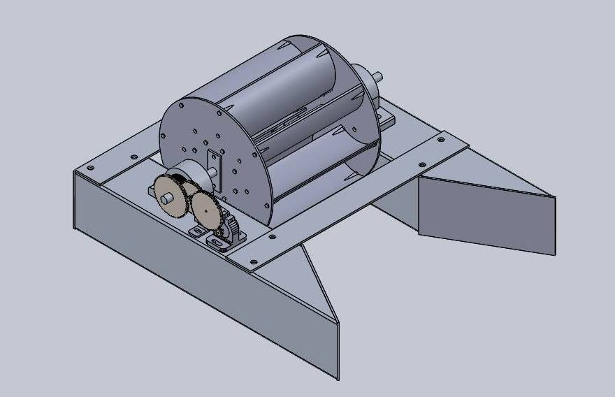 Waterwheel CAD assembly