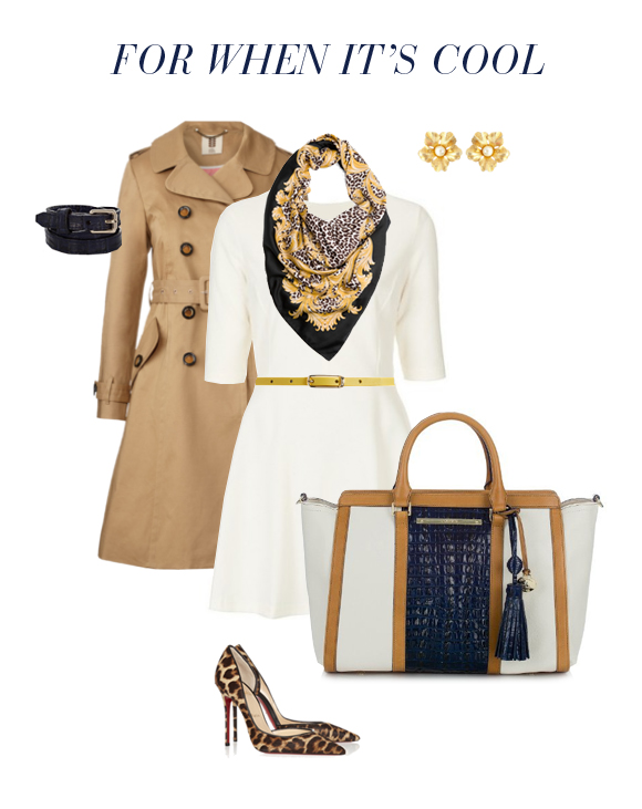 The #Brahmin Anna Season styled for a #cool winter day