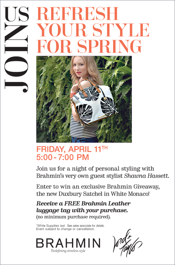 #Brahmin Join Us at Refresh your style for Spring