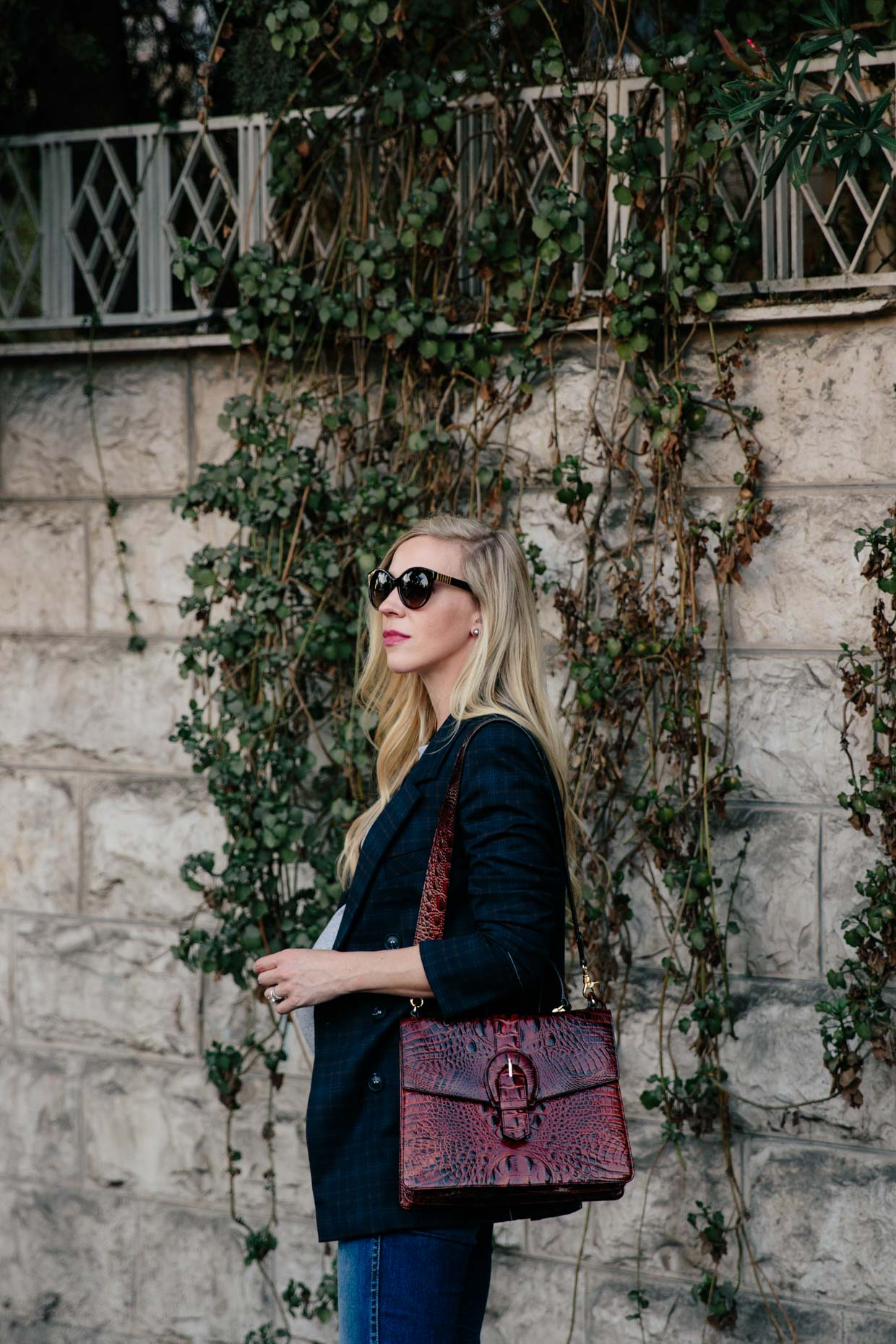Meagan-Brandon-fashion-blogger-of-Meagans-Moda-chic-maternity-outfit-with-navy-plaid-blazer-and-Brahmin-Gabriella-Pecan-satchel.jpg