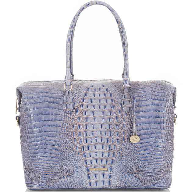 The Duxbury Carryall  in Washed Indigo, $425.