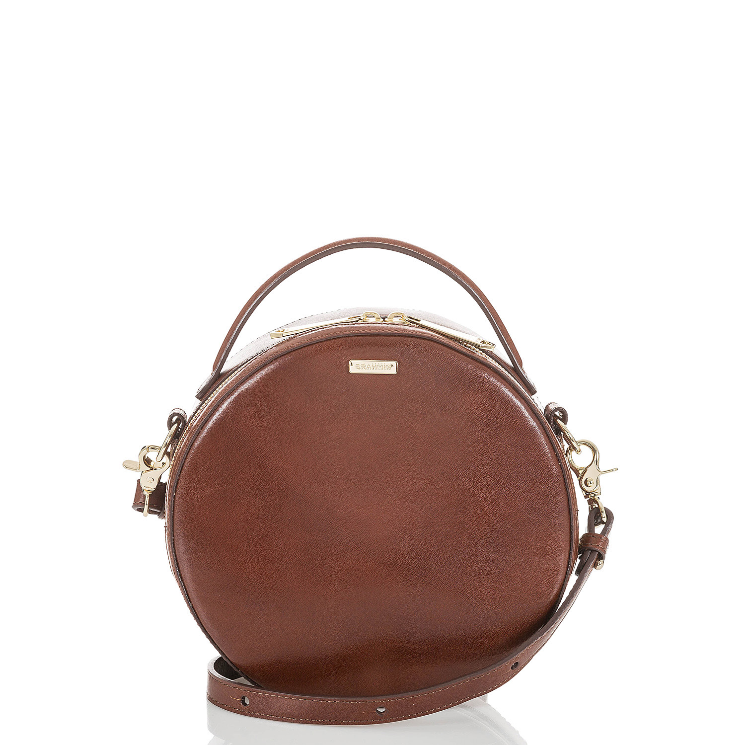 Our signature Lane crossbody looks brand-new rendered in rich Italian leather.
