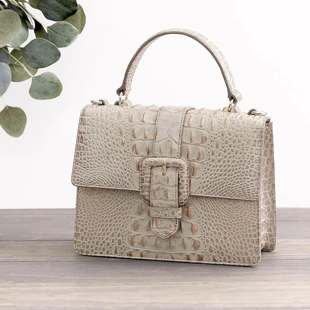 What's silver, gold, & bold all over? Meet the Mini Francine in Silver Birch. #answerwithbrahmin