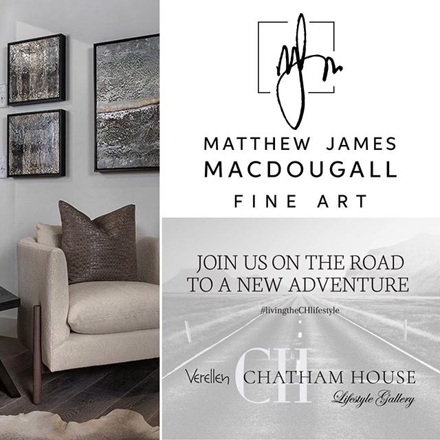 "Together with @chathamhouseinteriordesign (Kali and Shelley) I invite you to join me this Friday evening (May 3) for a ""come & go"" style Grand Opening Celebration of our Chatham House #lifestylegallery  From 5pm-8pm at Suite 102-A in the Michigan Design Center: 1700 Stutz Drive Troy, MI  Please RSVP: (248) 620-9000  Looking forward to seeing you and sharing my artwork with you!  Cheers! 🎉 🥂 🎶"