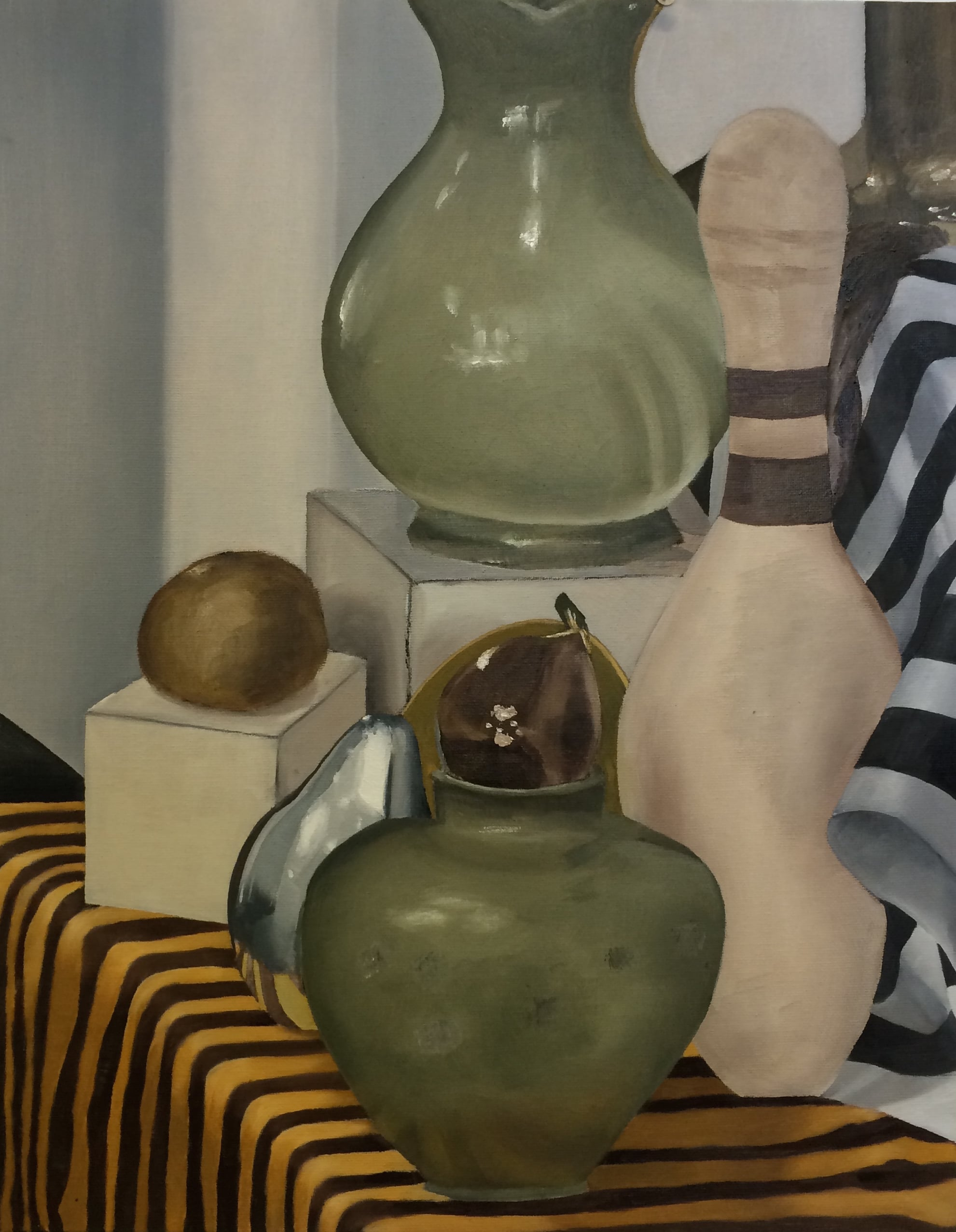 Student, Painting Oil Media