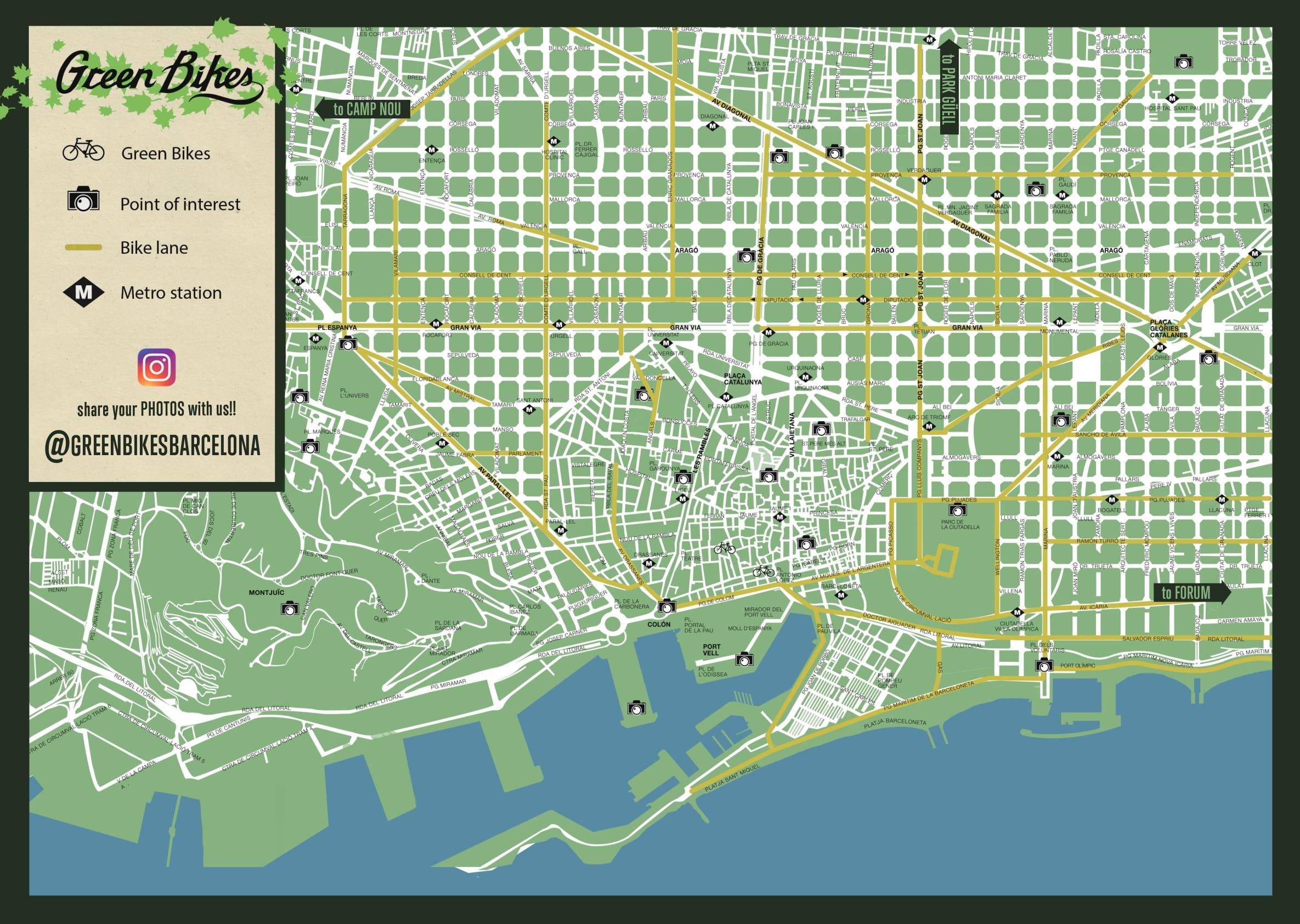 BARCELONA BIKE LANE MAP
