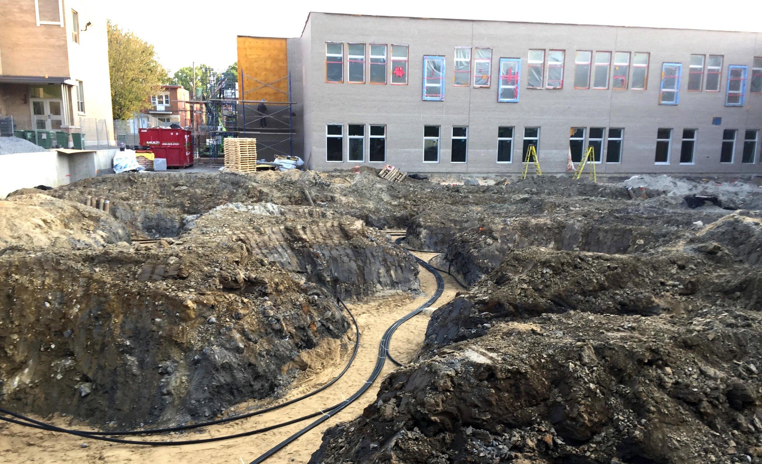 Finalisation de la GÉOTHERMIE pour notre future école primaire.