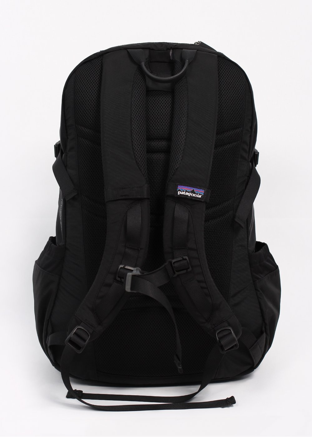 Black Patagonia Backpack filled with Cliff Bar Swag