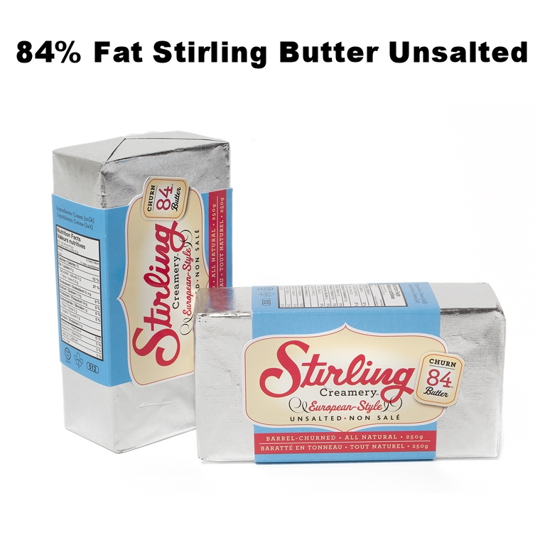 84% Fat Stirling Butter Unsalted