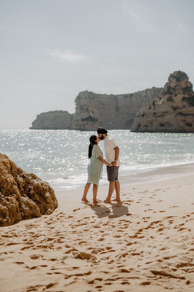 babymoon at praia da marinha, algarve, portugal