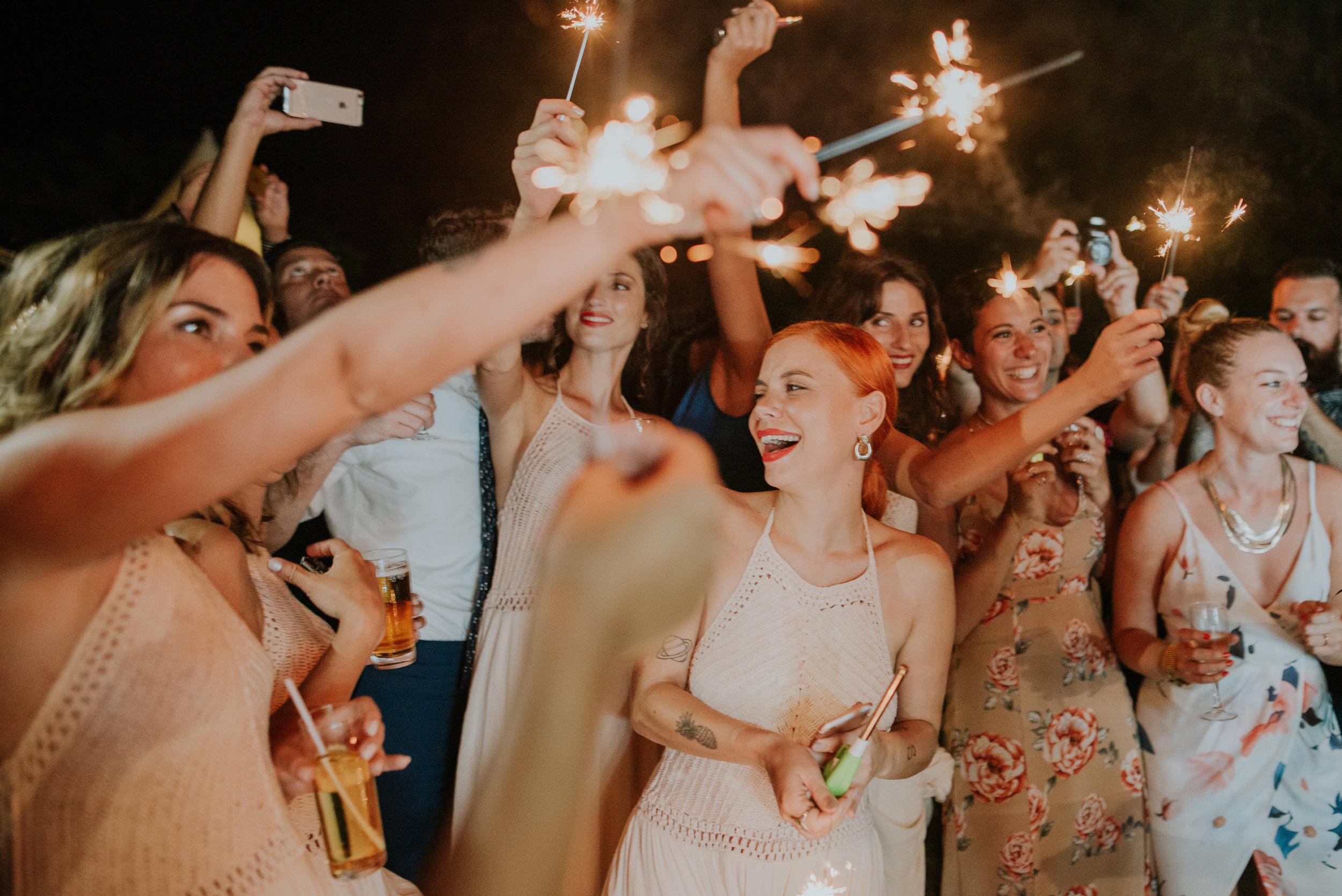 wedding party sparkles