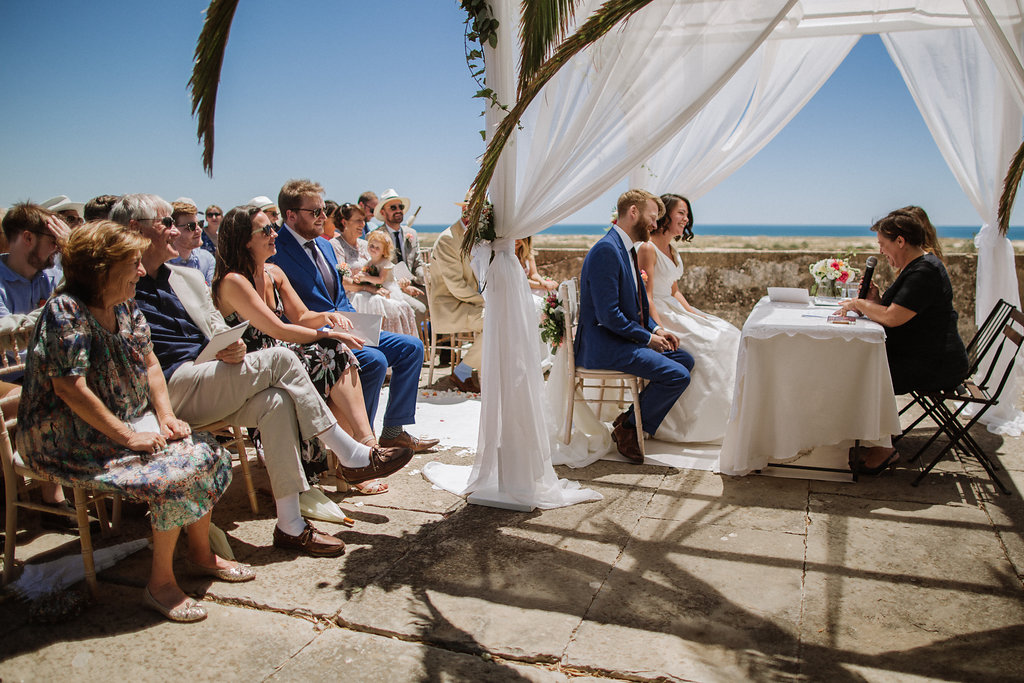 wedding at Forte São João da Barra in Cabanas de Tavira, Algarve, Portugal