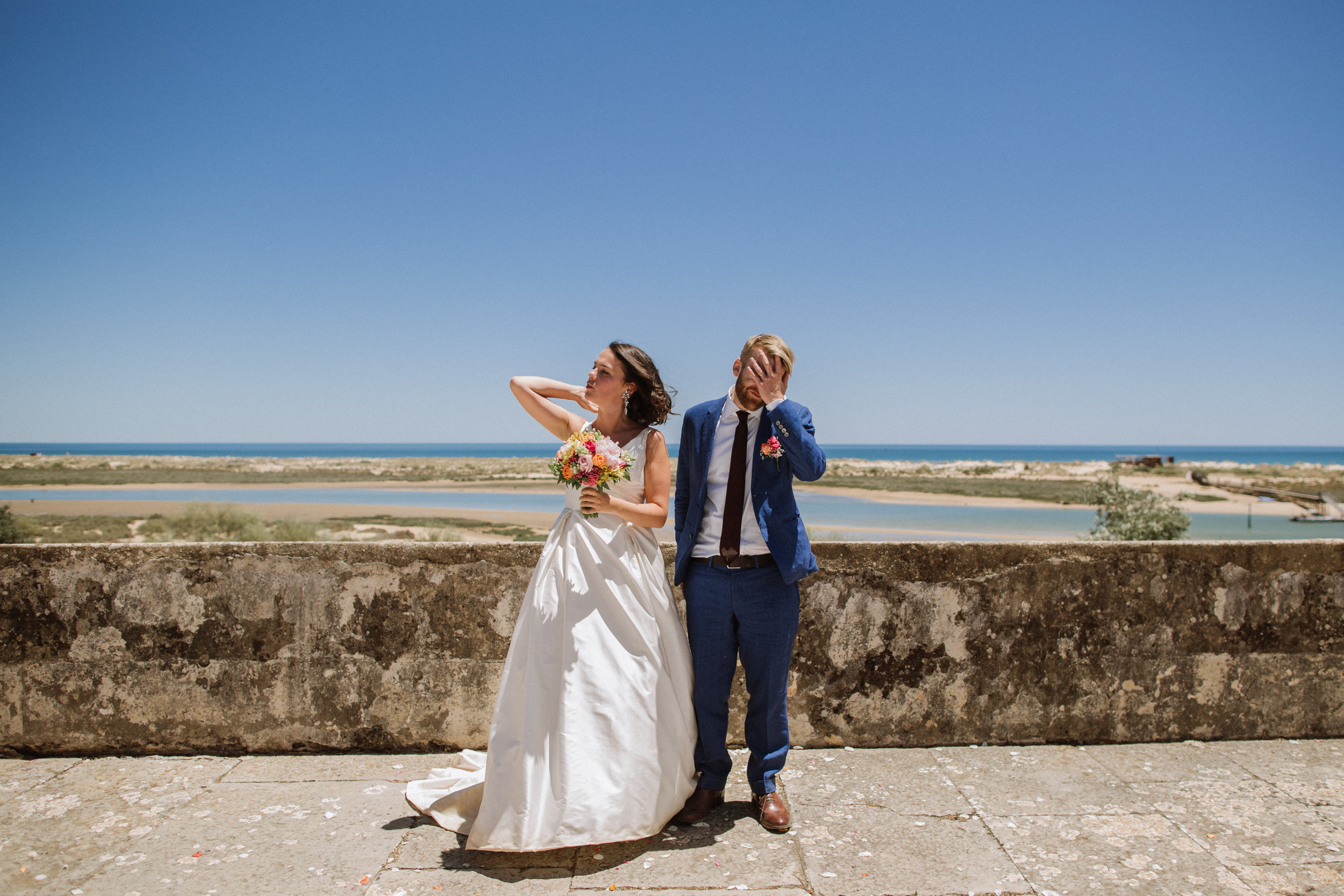 wedding at Forte São João da Barra in Cabanas de Tavira, Algarve, Portugal, alternative photographer