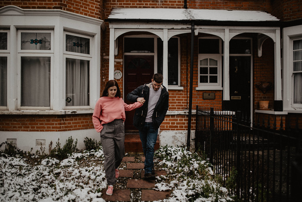 engagement session in London by Lapela Photography