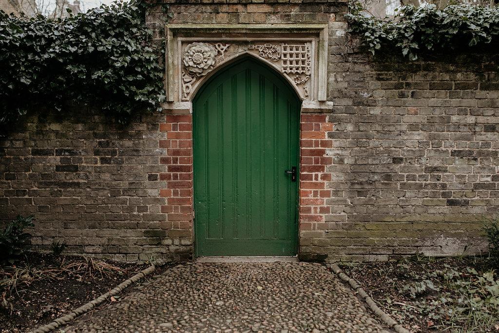 Cambridge university door