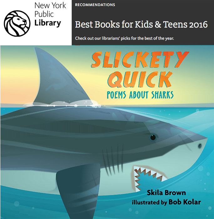 Thank you New York Public Library. Slickly Quick was named to the best picks of the year!