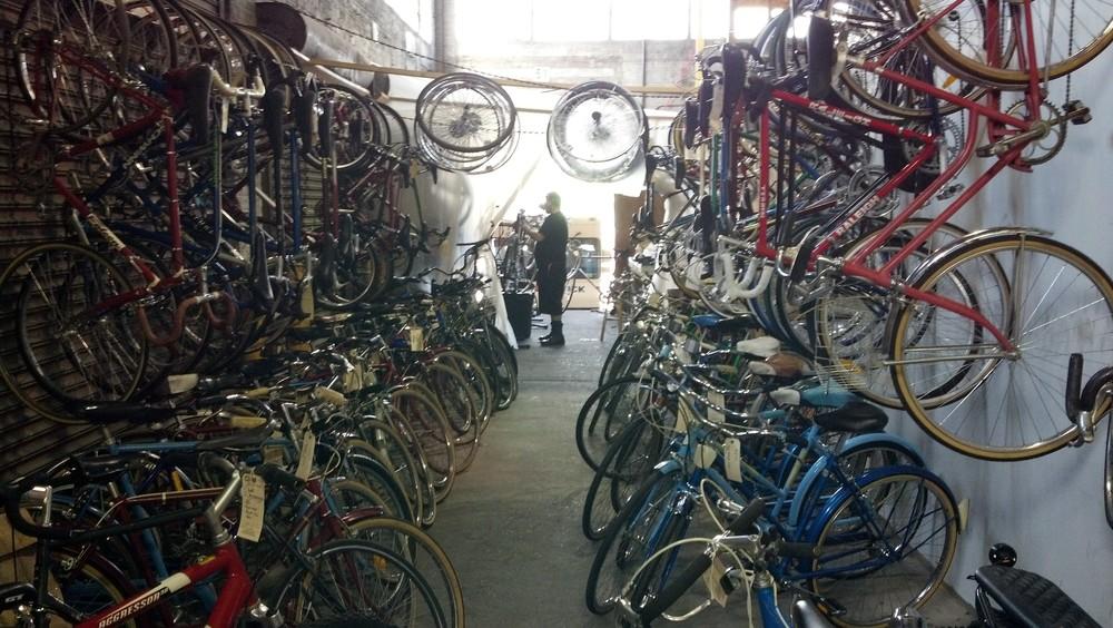The Bike Truck warehouse, Greenpoint, 2013