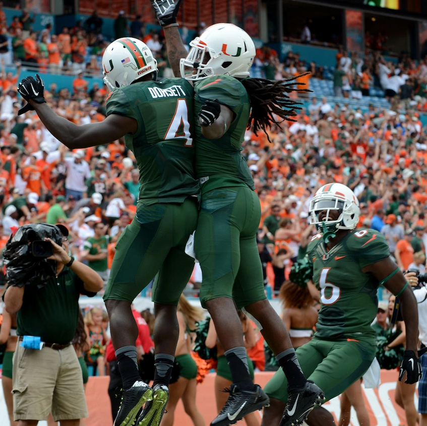 Green over Green (Credit: Miami Hurricanes)