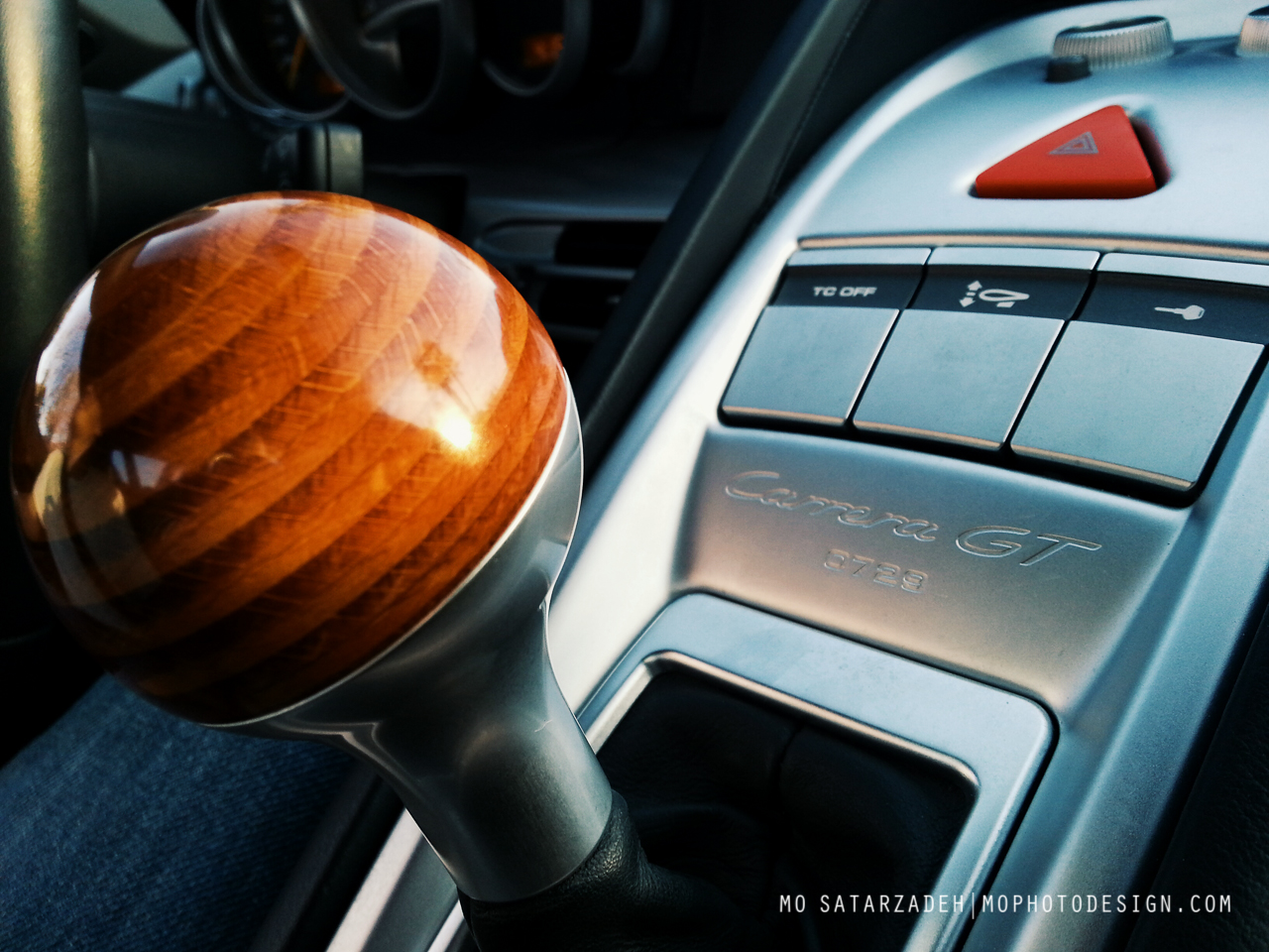 The most technical German car with the most un-German feature - a beach wood shift knob. Quite possibly one of my favorite design details on a car.