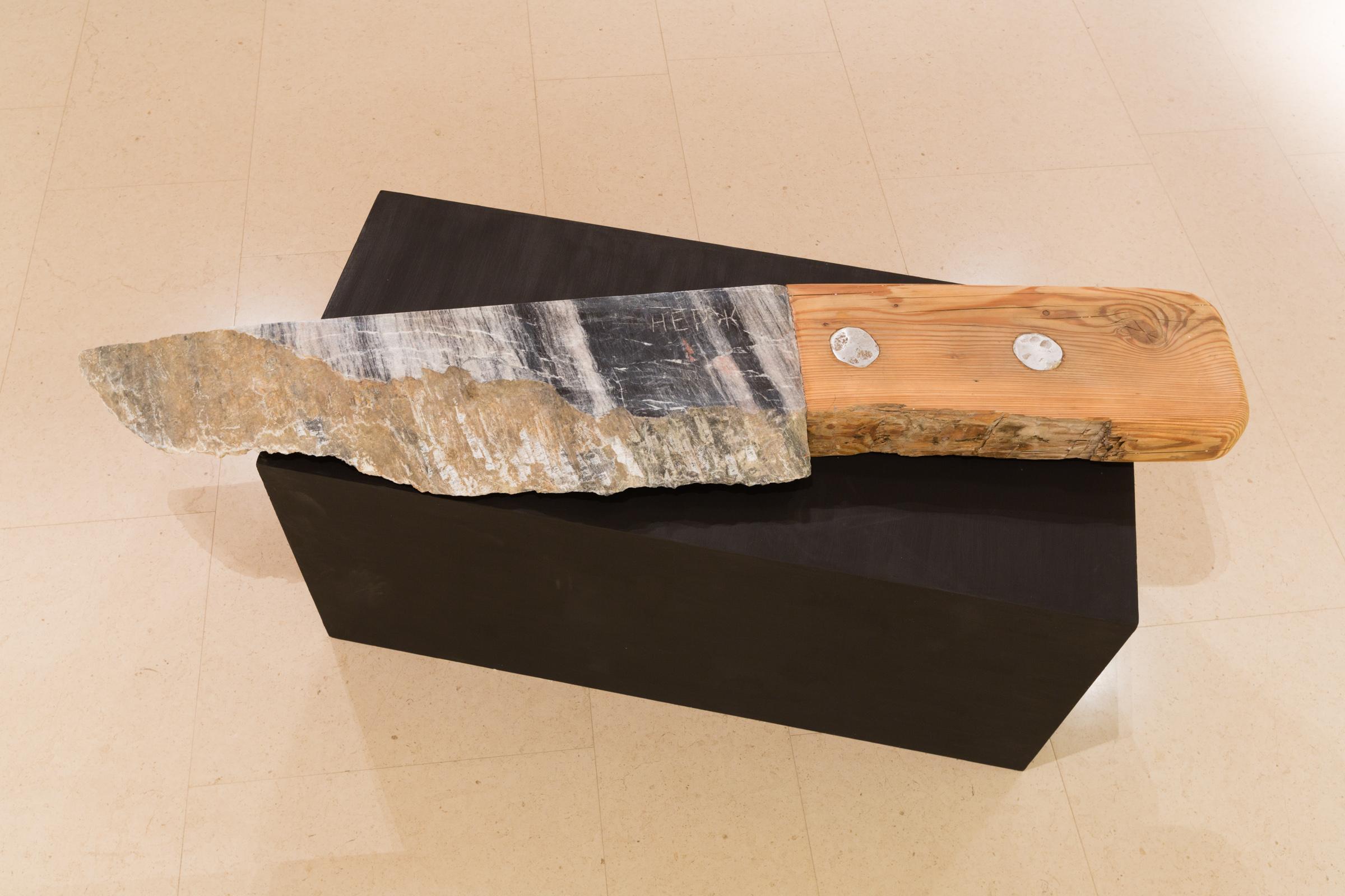 Yelena and Viktor Vorobyev, Knife, 2003, stone and wood