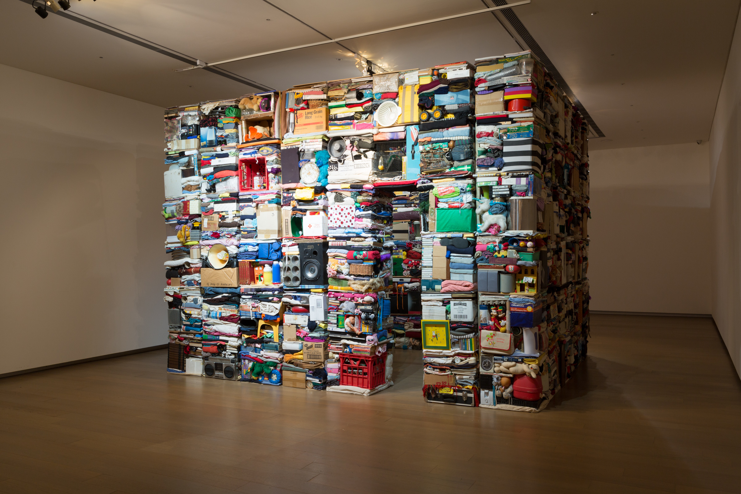 Isabel and Alfredo Aquilizan, Address: Project Another Country, 2008, 140 boxes of personal effects