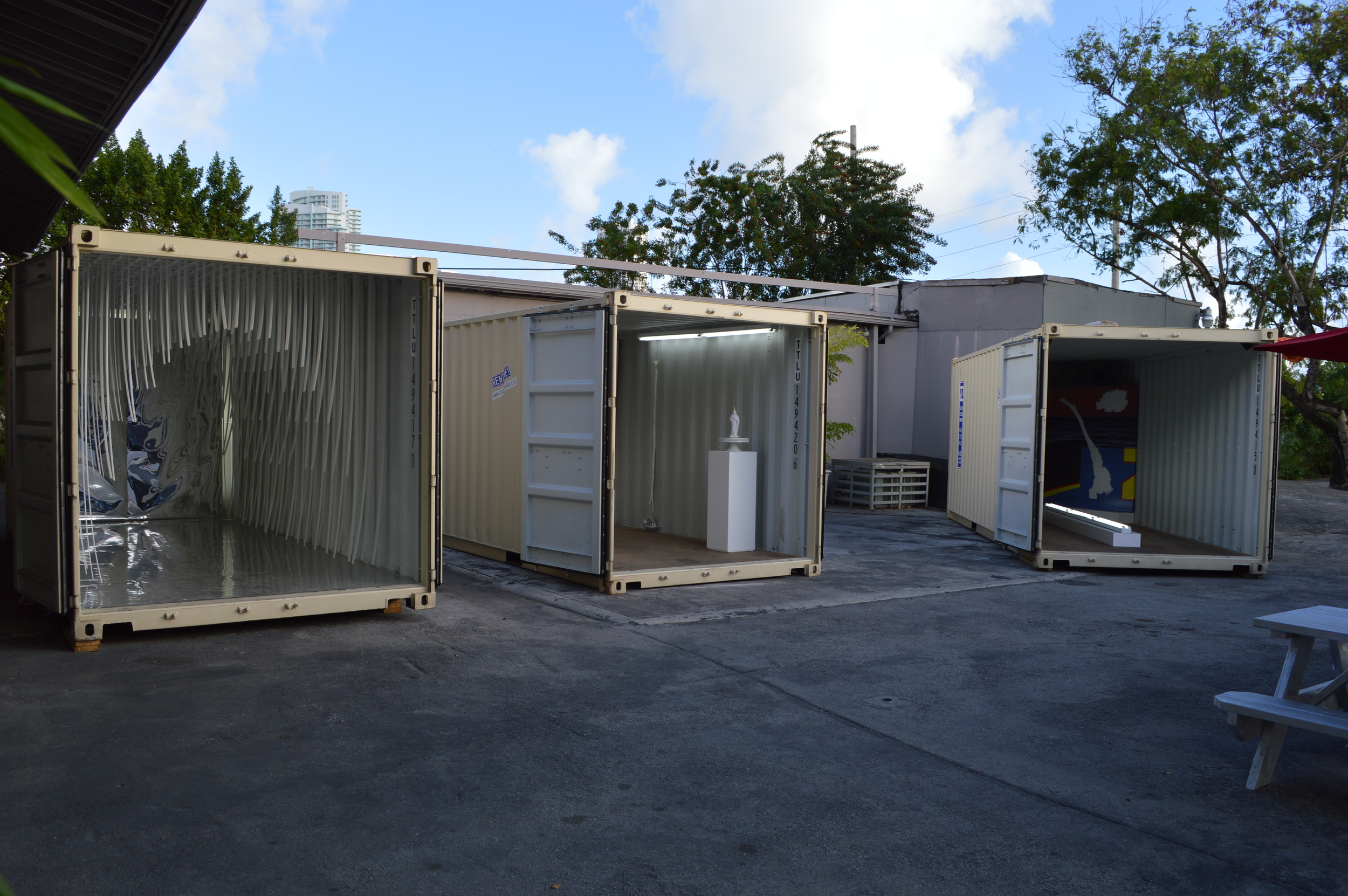 The Containers: from left Grodin, Teppa, Loveland