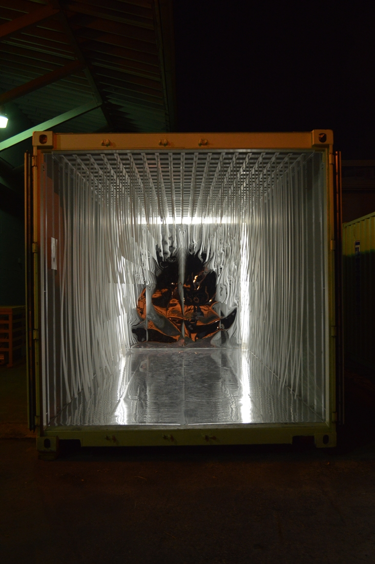 Felice Grodin container at night