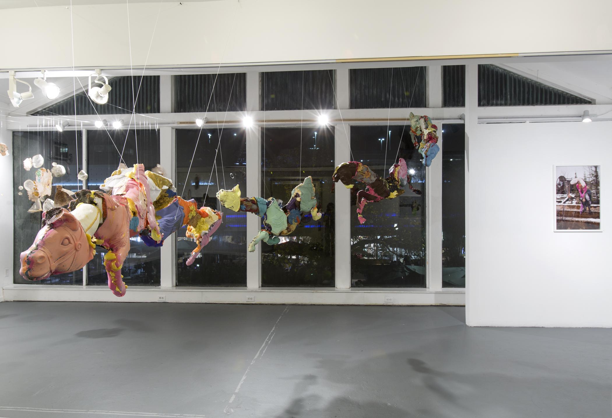 Andrew Nigon, Remington Painted Horses (Hunter's Rag), 2015, mixed media