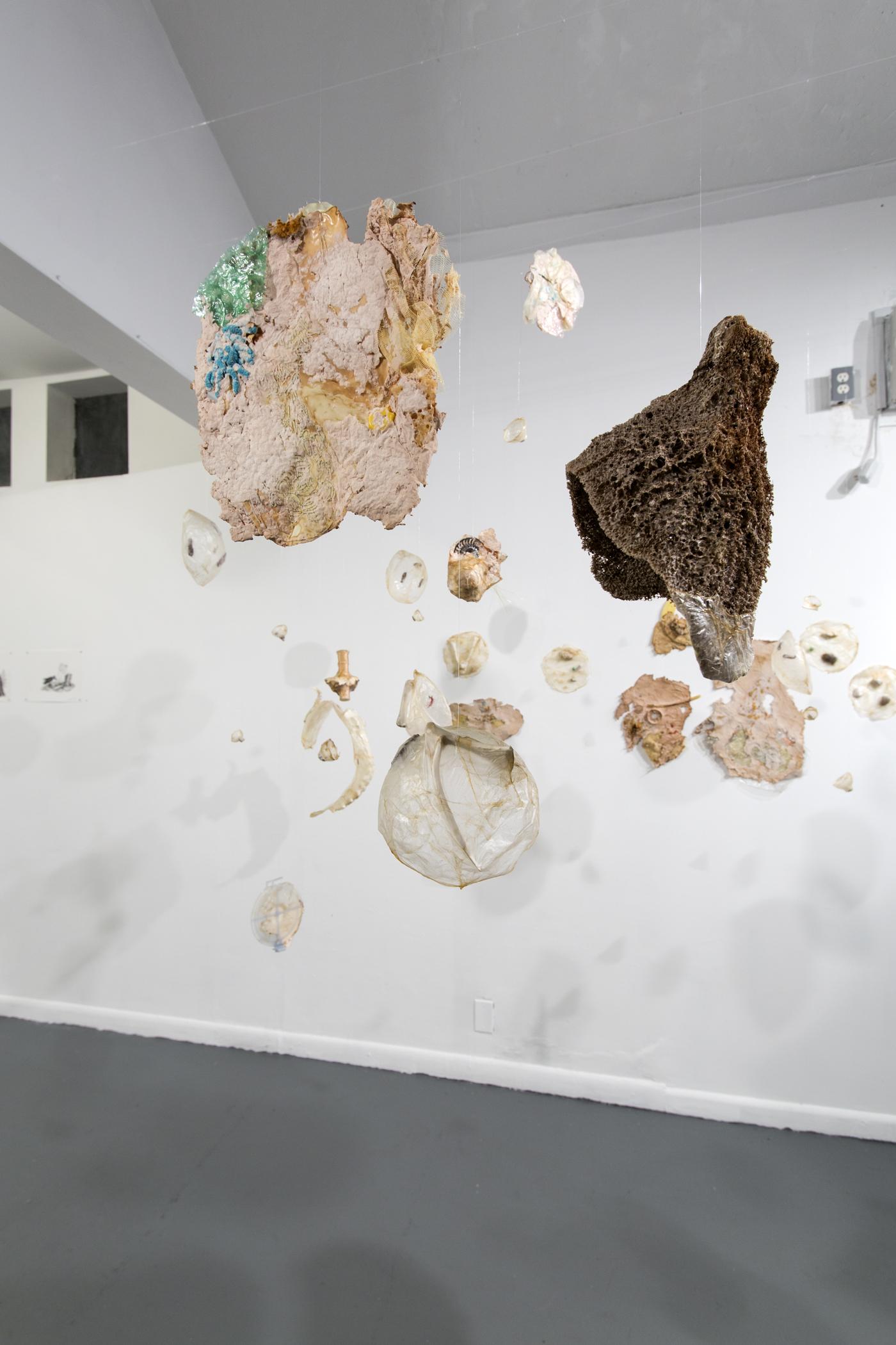 Heather Komus, Absorb, Adapt, 2015, mixed media