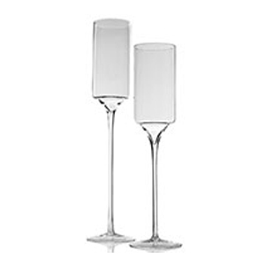 Glass Pedestal Cylinder