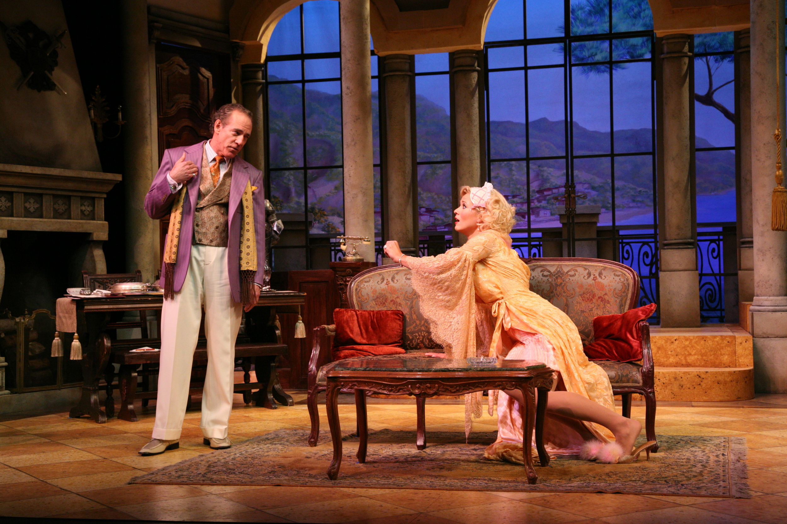 The Play's The Thing - Sandor (Mark Jacoby) and Ilona (Caralyn Kozlowski).jpg
