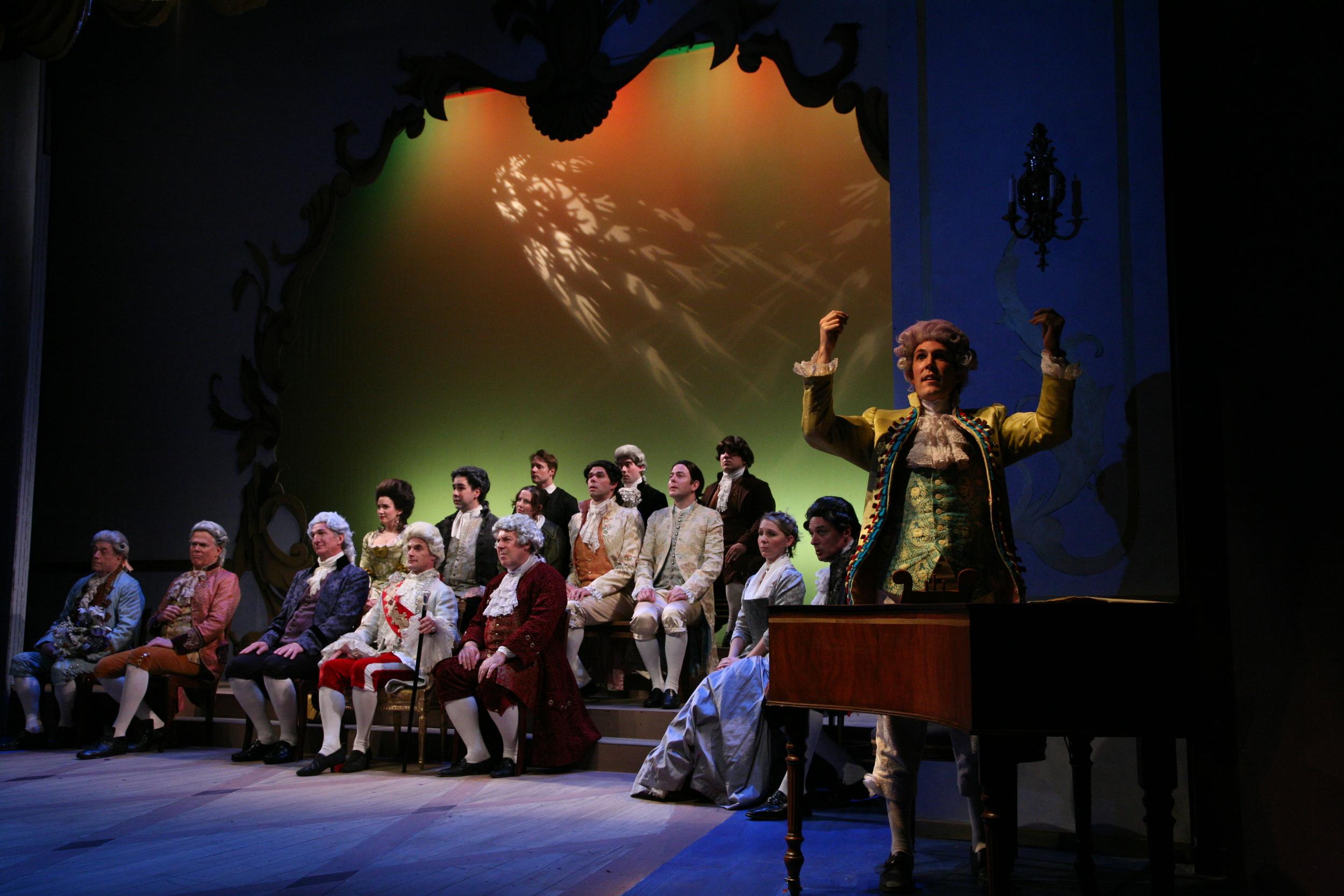 Amadeus - Mozart (Jordan Coughtry) and the ensemble.JPG