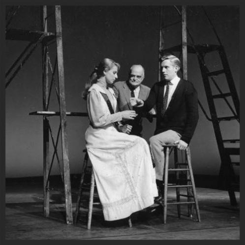 Ellen Weston, Thornton Wilder, Robert Hock in Mr. Wilder's final 1959 production of  Our Town.