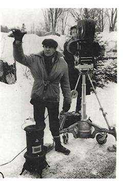 Adolfas Mekas on the set of HALLELUJAH THE HILLS  (1963)