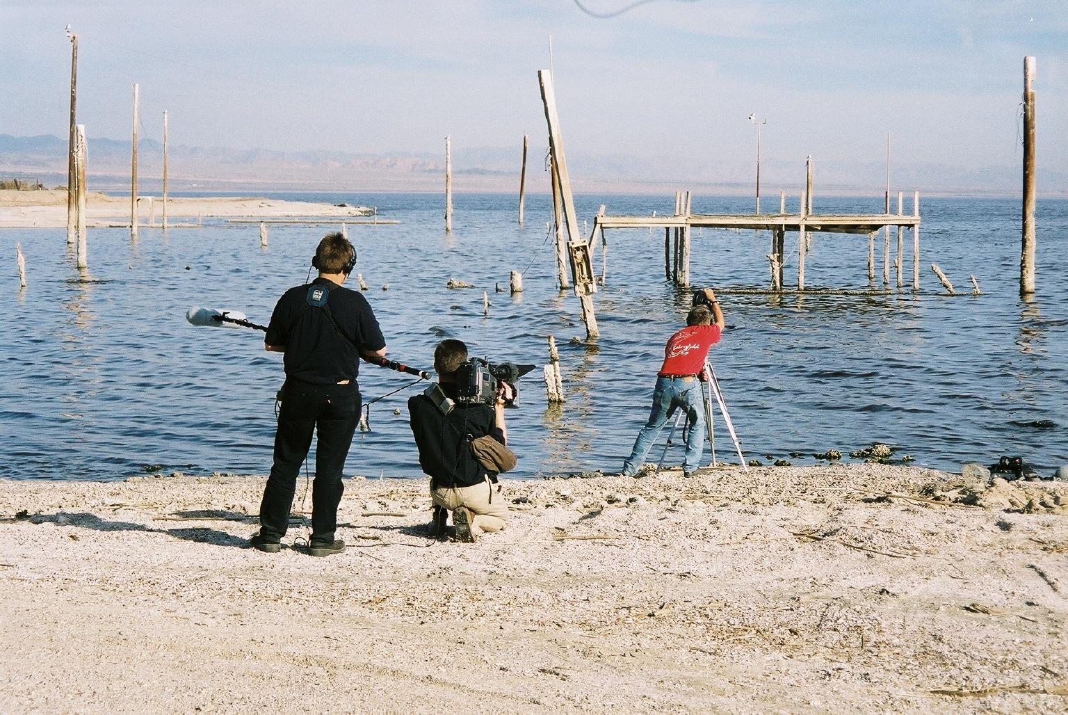James Benning filming  13 LAKES.