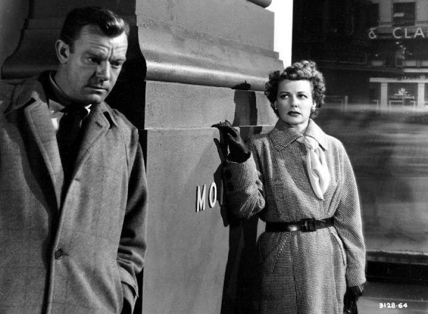 Ann Sheridan & Dennis O'Keefe in  WOMAN ON THE RUN