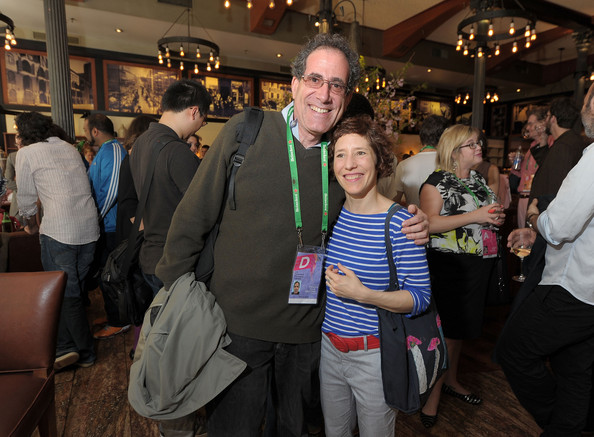 Experimental Film Programmer Jon GARTENBERG WITH FILMMAKER MARIE LOSIER AT TRIBECA FILM FESTIVAL