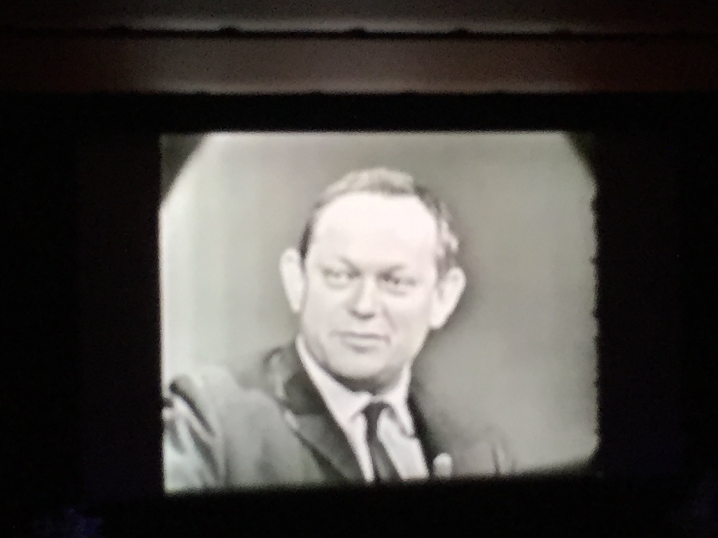 Founding co-programmer Amos Vogel (with Richard Roud), shown onscreen