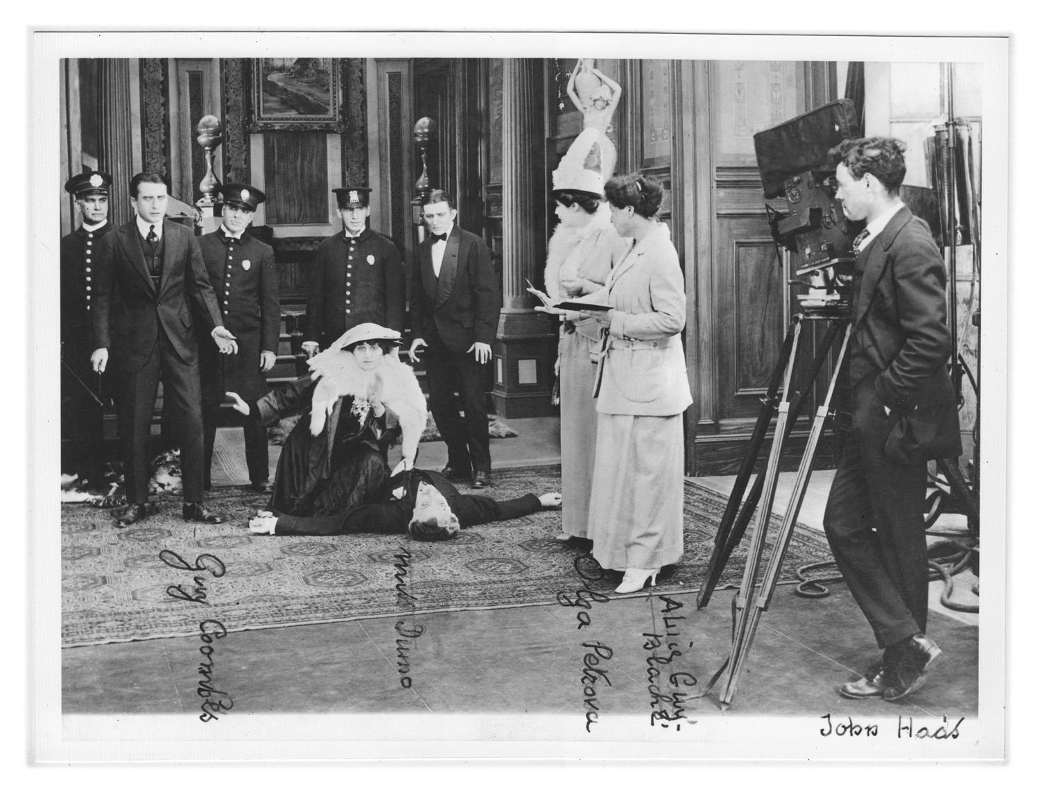 "Blaché, second from right, directing the 1915 film ""My Madonna."""