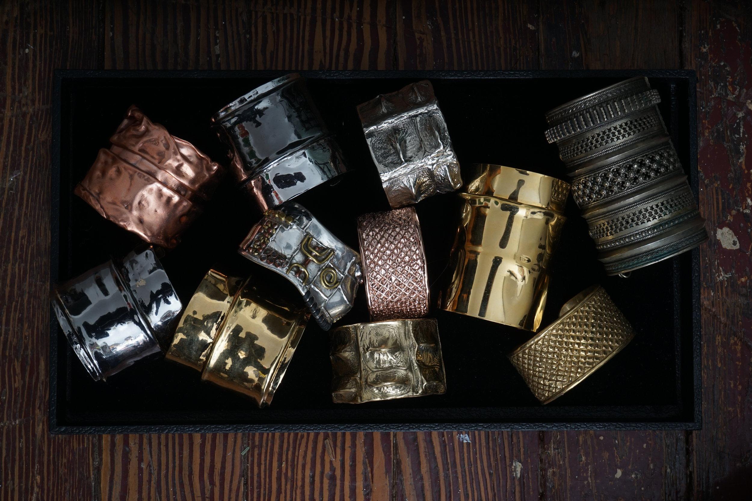 Hand crafted cuff bracelets -