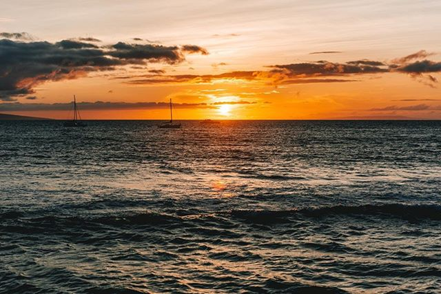 [8/9 Hawaii] How about some Maui sunset 😍😍😍 - - - - #vsco #visualgang #visualsoflife #launchdsigns #peoplescreatives #moodygrams #illgrammers #streetmagazines  #viewbugfeature #justgoshoot #instagood #igmasters #neverstopexploring #streets_vision5k #streets_vision #MobileMag #everydayfoto #huffpostgram #artofvisuals #ig_masterpiece #agameoftones #superhubs #everydayeveryphoto #fatalframes #lonelyplanet #fubiztravel #visualsoflife #hawaii #maui #sunset
