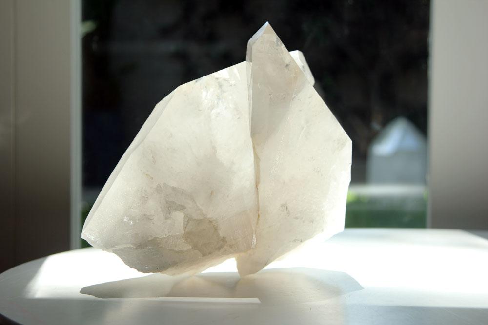 Clear quartz crystals