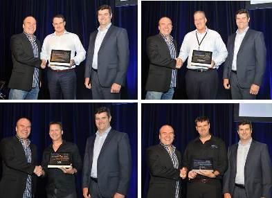 Winners of the 2013 AMX Australia Sales Awards
