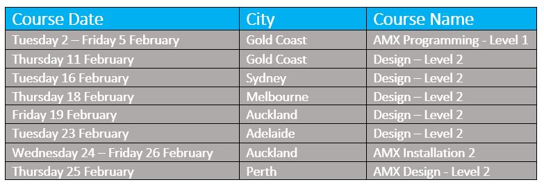 February 2016 Courses