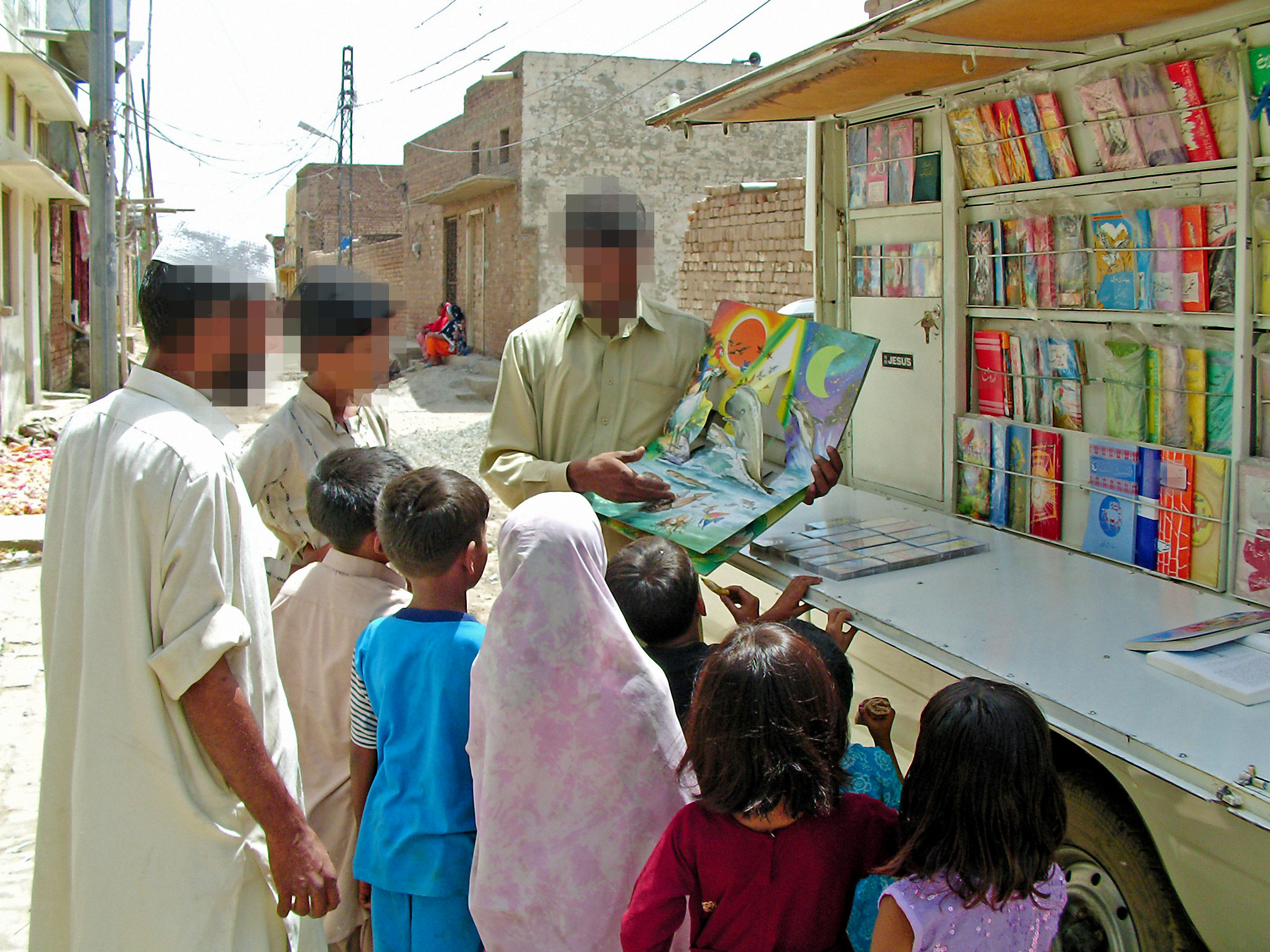 The book van has been distributing books and building relationships in tiny villages across this predominantly muslim part of South Asia for 35 years.