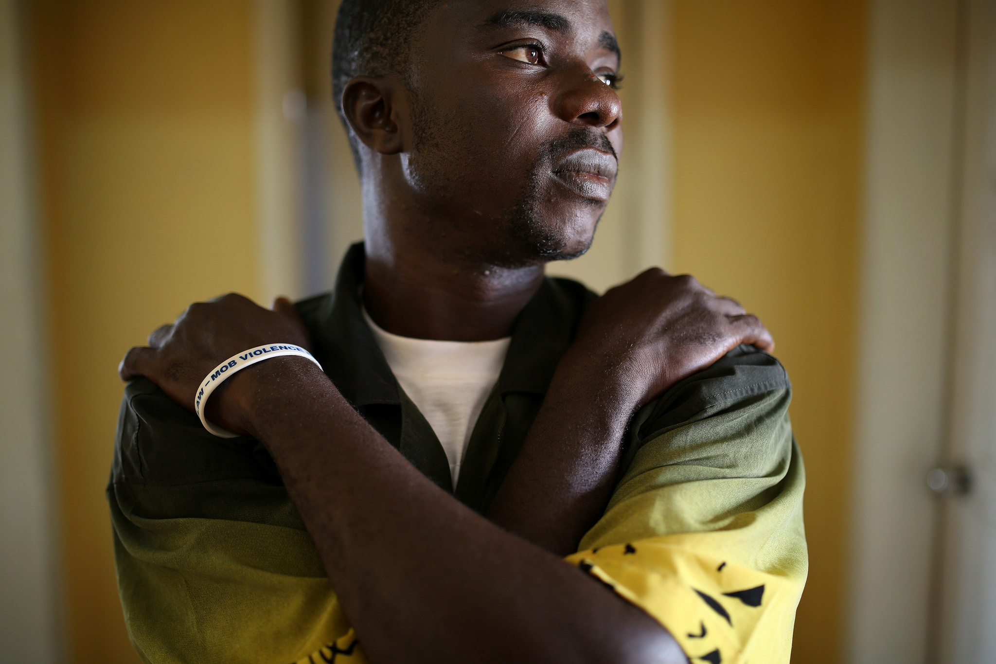 Henry, one of the many Ebola survivors still living in Monrovia who has lost several family members - Photo courtesy   World Bank Photo Collection .