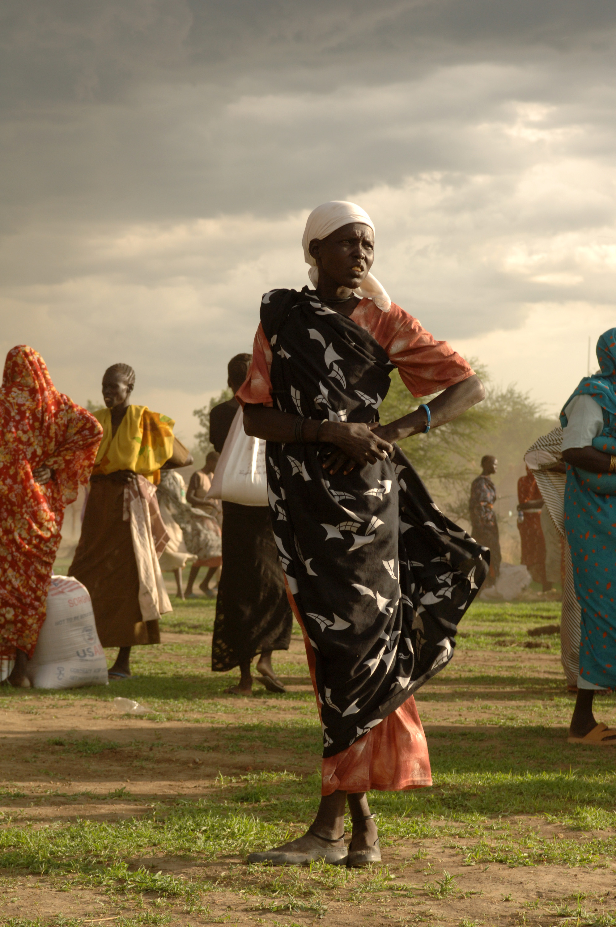 These women are amongst the thousands of internally displaced people who fled their homes during the civil war. - Photo courtesy of  United Nations Photo .
