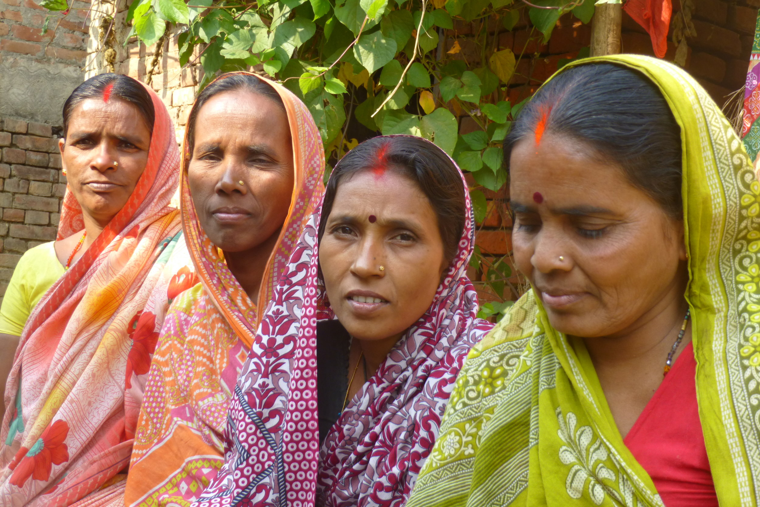 Now that Sambha, Prabhouti, Pavitr, and the other women in the self-help group know each other they can offer continuing support even though Chetna's direct involvement has ended - Photo by Sarah K.